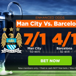 Man City v Barcelona price boosts