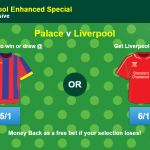 Palace v Liverpool enhanced odds