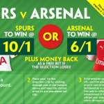 Enahnced odds Tottenham v Arsenal