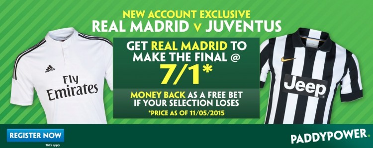 Real-Madrid-to-qualify Real Madrid v Juventus - 7/1 for Real Madrid to Qualify for the Final