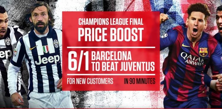 Juventus v Barcelona price boosts