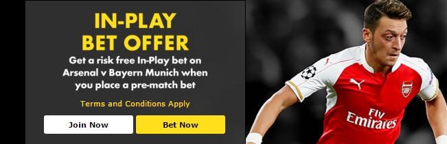 Arsenal-v-Bayern-Munich-risk-free-£50
